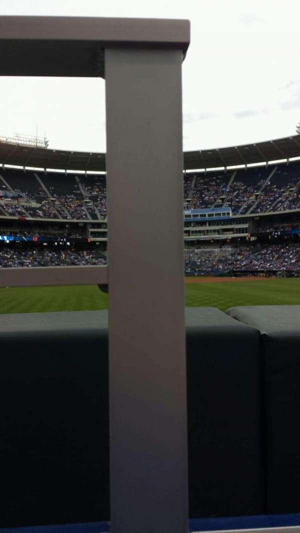 Kauffman Stadium, section: 101, row: A, seat: 1