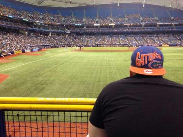 Tropicana Field, section: 142, row: U
