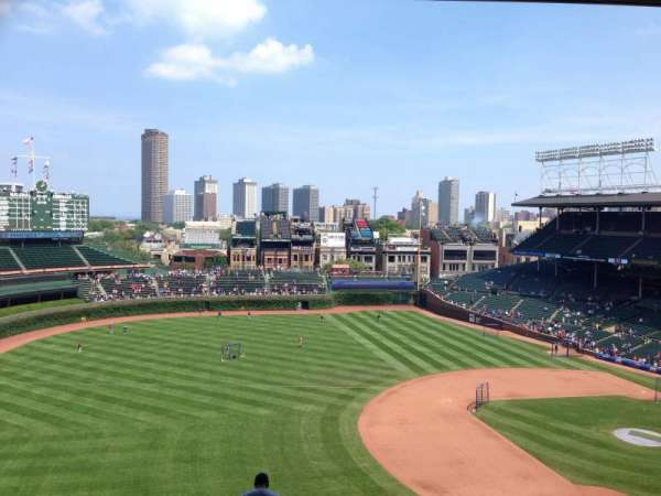 Wrigley Field, section: 408L, row: 2, seat: 14