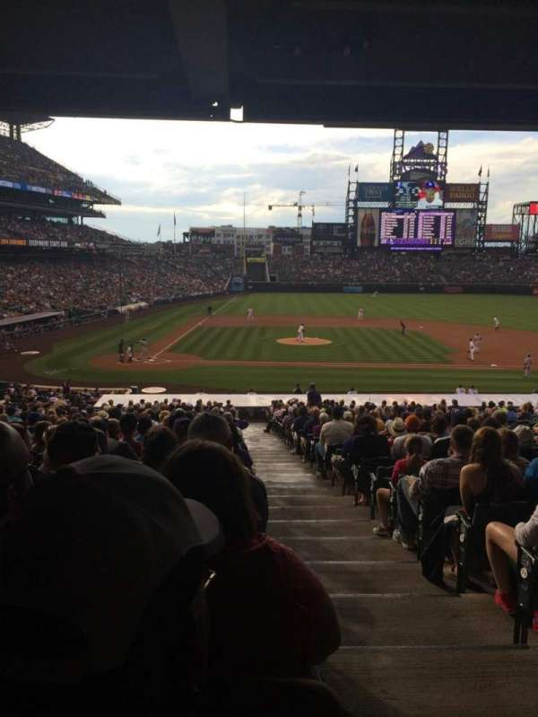 Coors Field, section: 125, row: 38, seat: 1