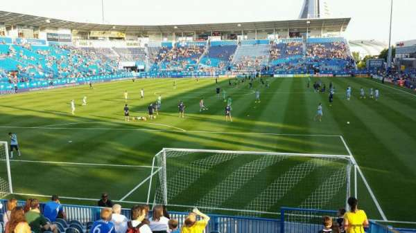 Saputo Stadium, section: 113, row: N, seat: 4