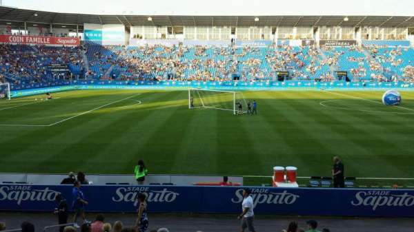 Saputo Stadium, section: 108, row: BB, seat: 11