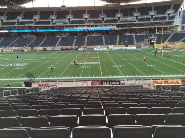 Investors Group Field, section: 105, seat: 14