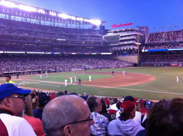 Target Field, section: 105, row: 10, seat: 3