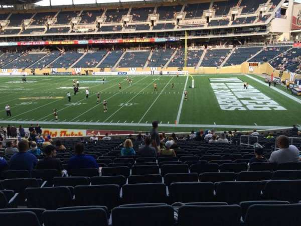 Investors Group Field, section: 125, row: 24, seat: 8