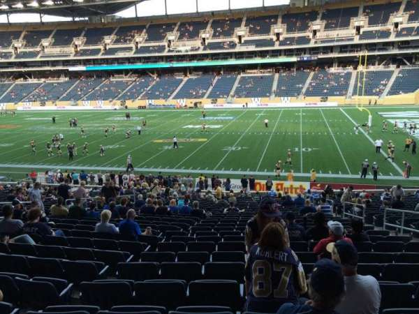 Investors Group Field, section: 126, row: 28, seat: 7