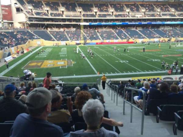 Investors Group Field, section: 135, row: 23, seat: 1