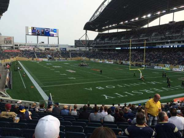 Investors Group Field, section: 143, row: 22, seat: 16