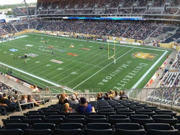 Investors Group Field, section: 201, row: 23, seat: 5