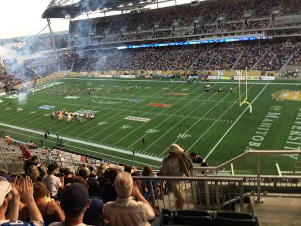 Investors Group Field, section: 203, row: 18, seat: 1