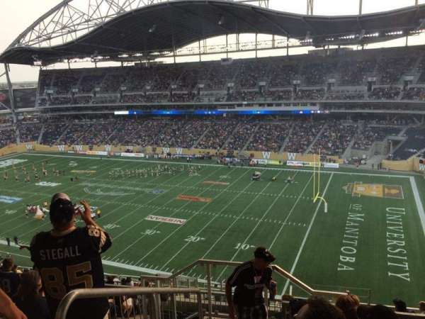 Investors Group Field, section: 203, row: 19, seat: 20