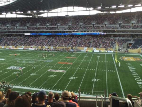 Investors Group Field, section: 205, row: 6, seat: 1