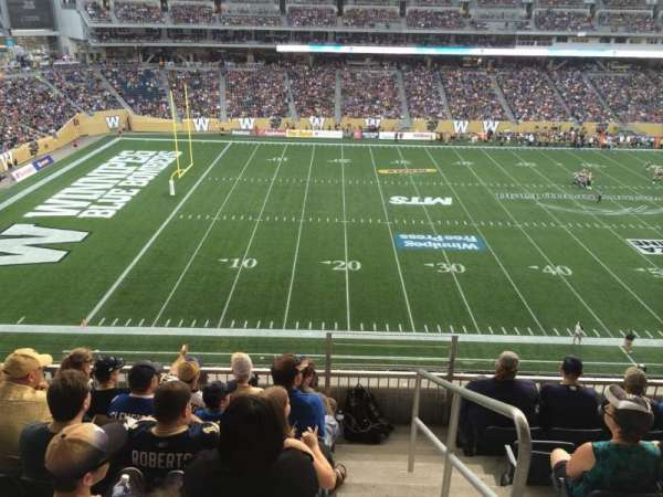 Investors Group Field, section: 211, row: 6, seat: 1