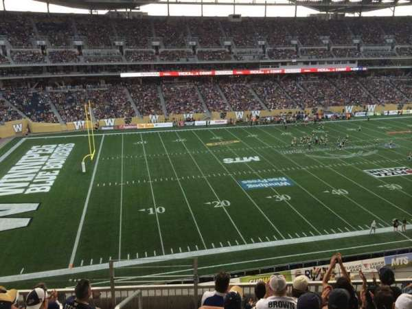 Investors Group Field, section: 211, row: 6, seat: 18