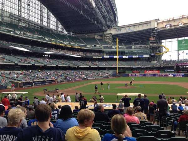 Miller Park, section: 114, row: 19, seat: 16