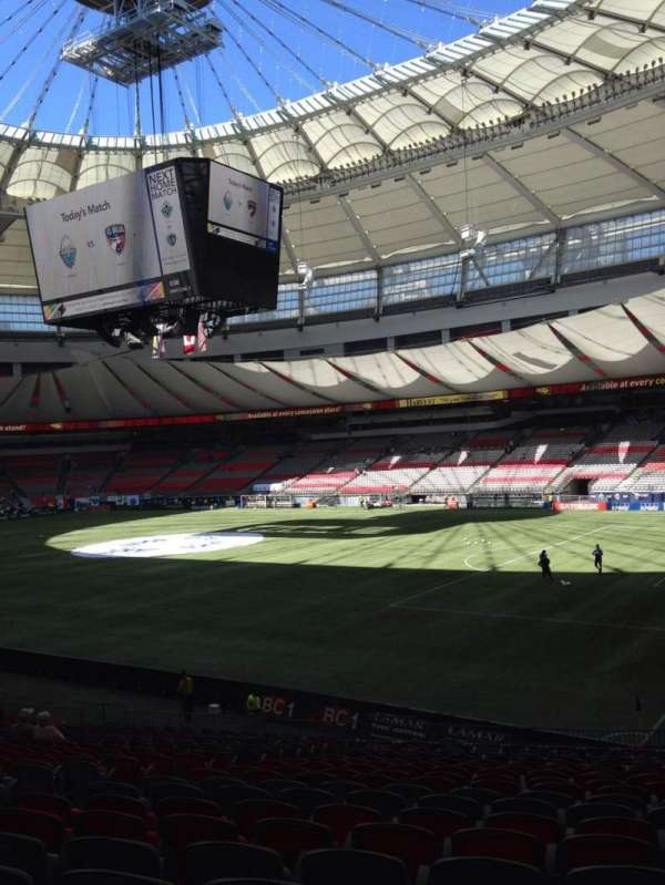 BC Place, section: 234, row: CC, seat: 5