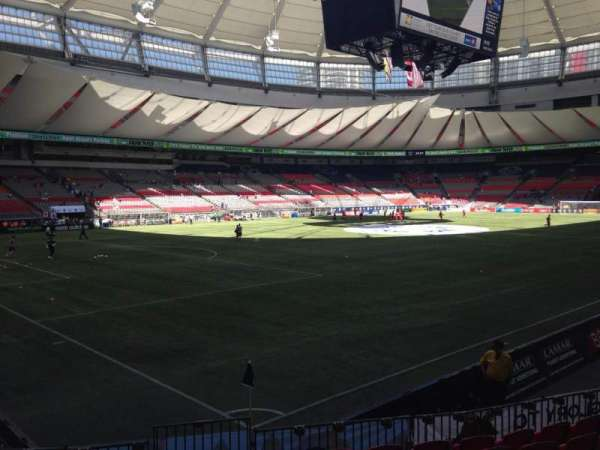 BC Place, section: 248, row: J, seat: 1