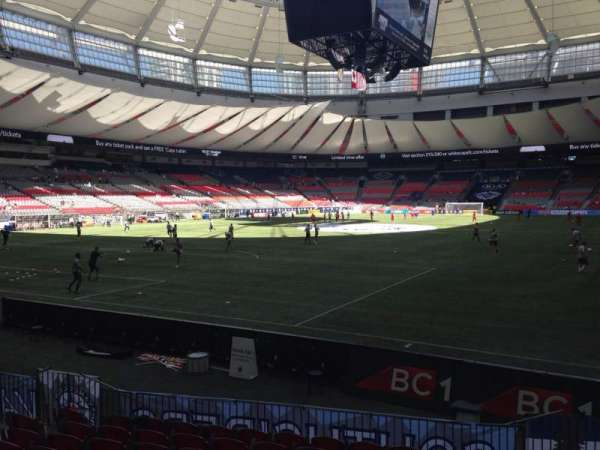BC Place, section: 251, row: F, seat: 102