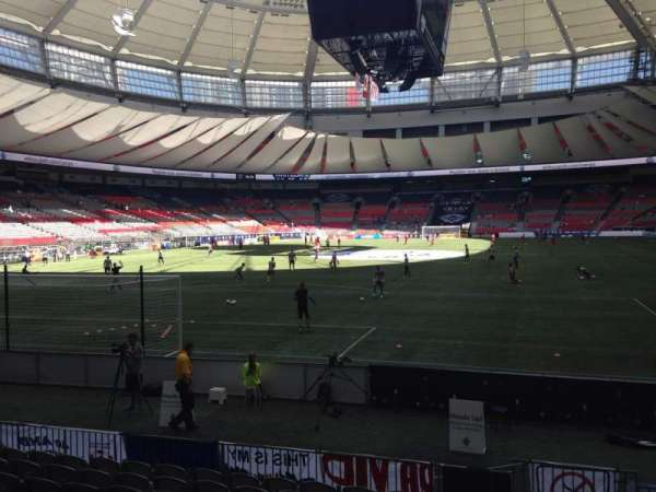 BC Place, section: 253, row: F, seat: 101
