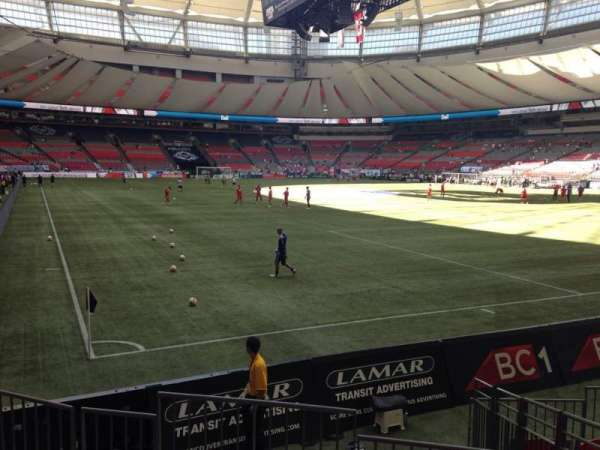 BC Place, section: 233, row: E, seat: 2