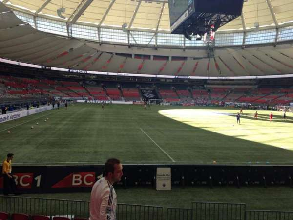 BC Place, section: 231, row: E, seat: 102