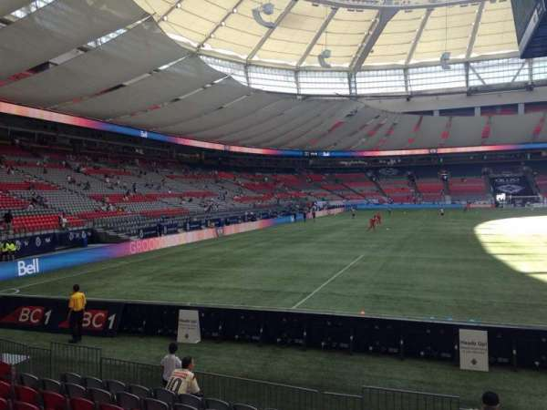 BC Place, section: 229, row: F, seat: 1