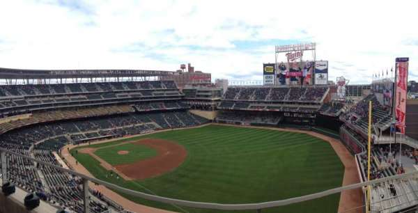 Target Field, section: 303, row: 2, seat: 3