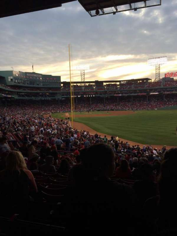 Fenway Park, section: Grandstand 4, row: 4, seat: 104