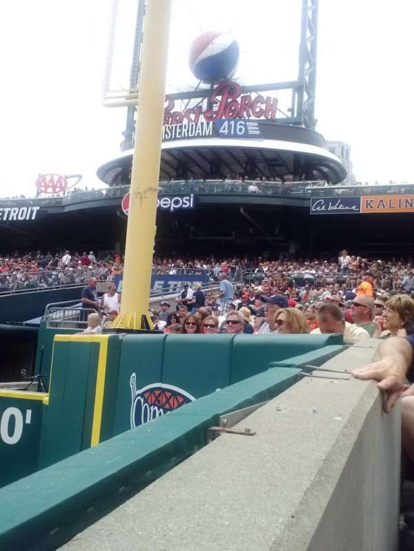 Comerica Park, section: 112, row: 15, seat: 19
