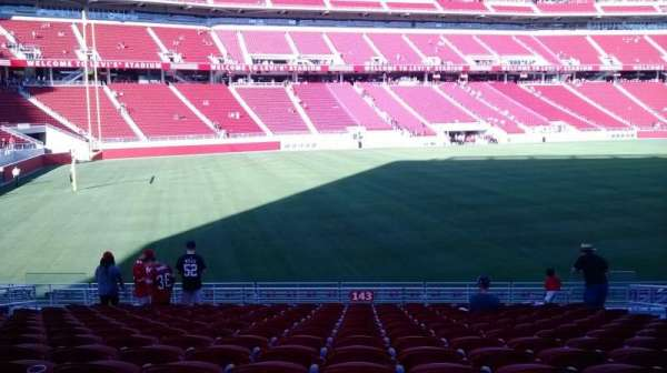 Levi's Stadium, section: 143, row: 17