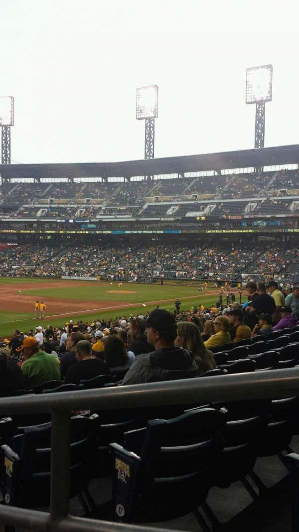 PNC Park, section: 129, row: W, seat: 1