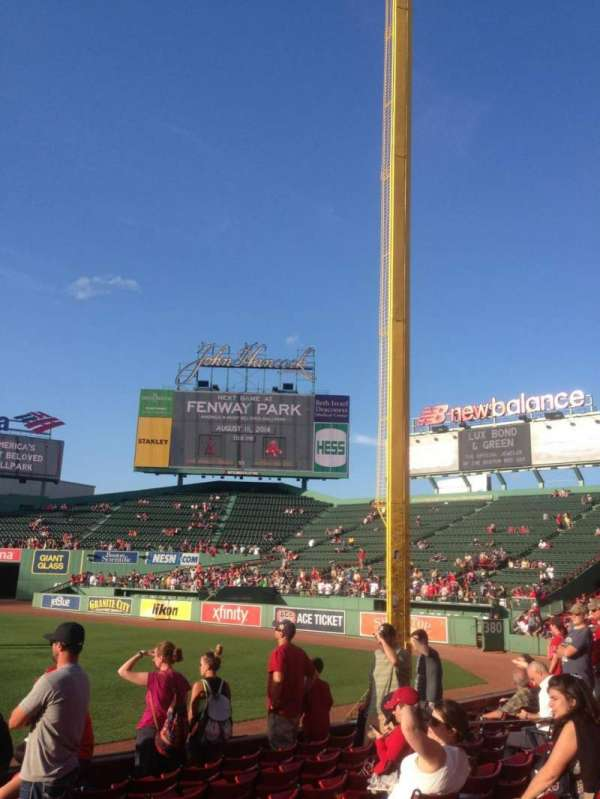 Fenway Park, section: Right Field Box 94, row: BB, seat: 19