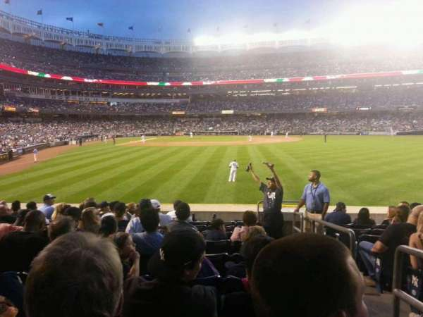 Yankee Stadium, section: 105, row: 18, seat: 1