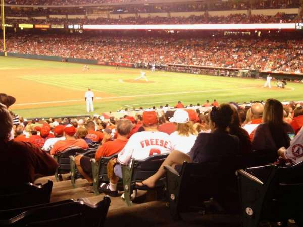 Angel Stadium, section: F109, row: Y, seat: 17