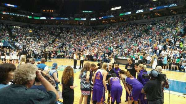 Target Center, section: 129, row: 2, seat: 2