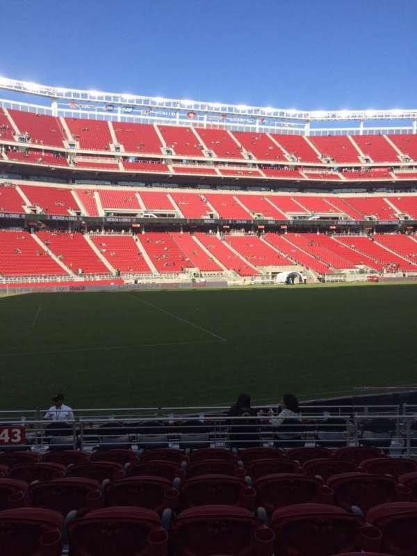 Levi's Stadium, section: 143, row: 10, seat: 4