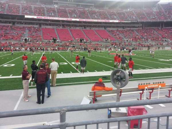 Ohio Stadium, section: 24aa, row: 2, seat: 11