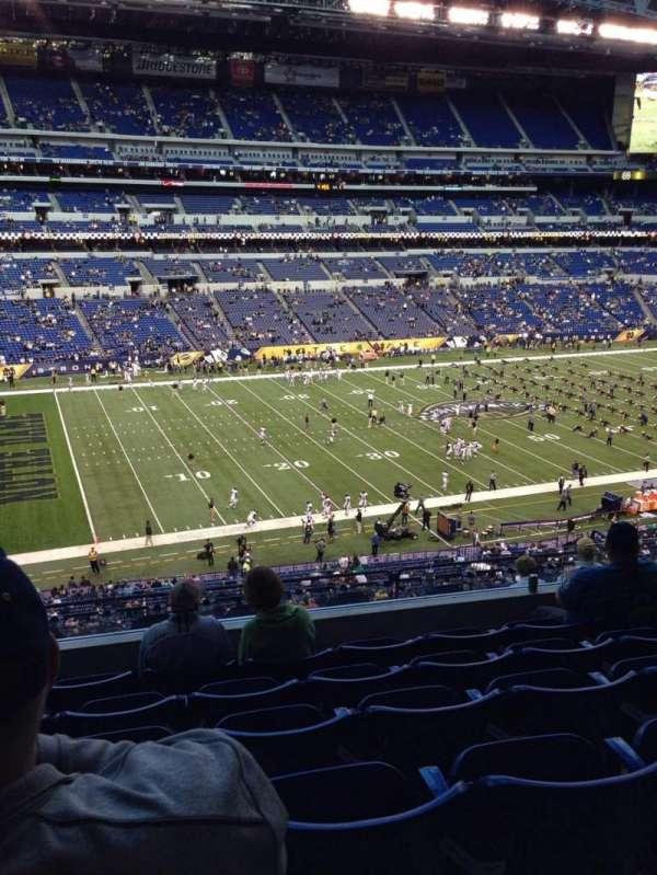 Lucas Oil Stadium, section: 444, row: 6, seat: 17