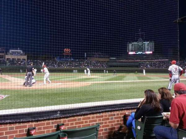 Wrigley Field, section: Dugout Box 25, row: D, seat: 103