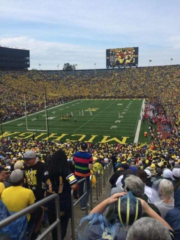 Michigan Stadium, section: 10, row: 66, seat: 15-16