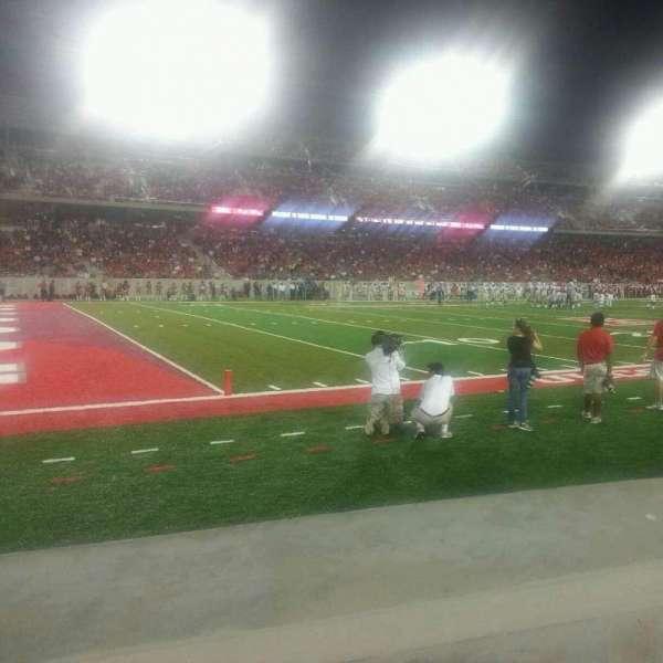 TDECU Stadium, section: 115, row: 1, seat: 12