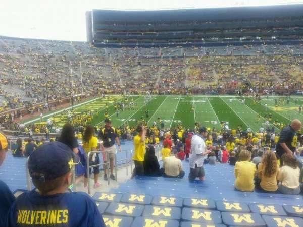 Michigan Stadium, section: 27, row: 47, seat: 16