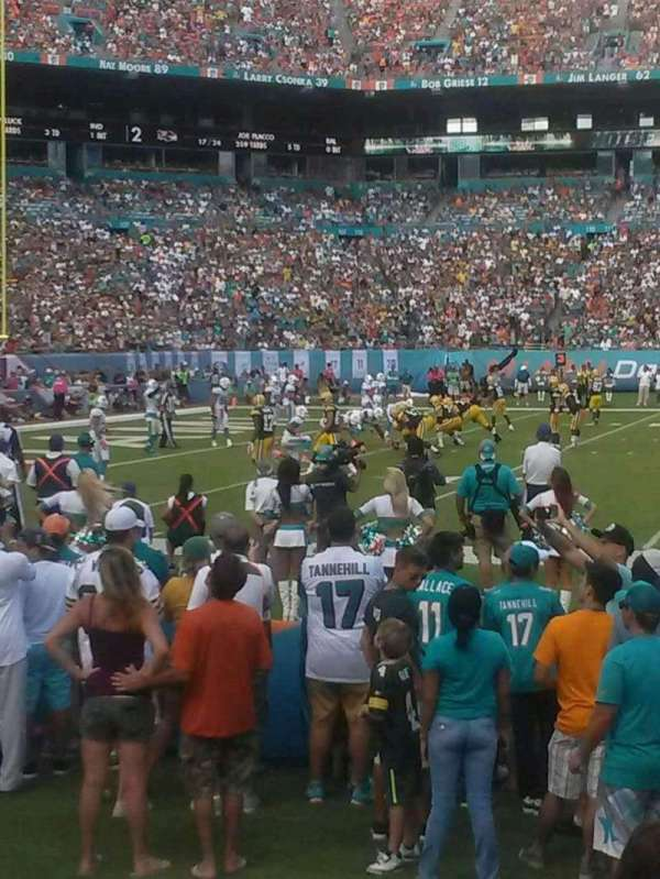 Hard Rock Stadium, section: 144, row: 1, seat: 23