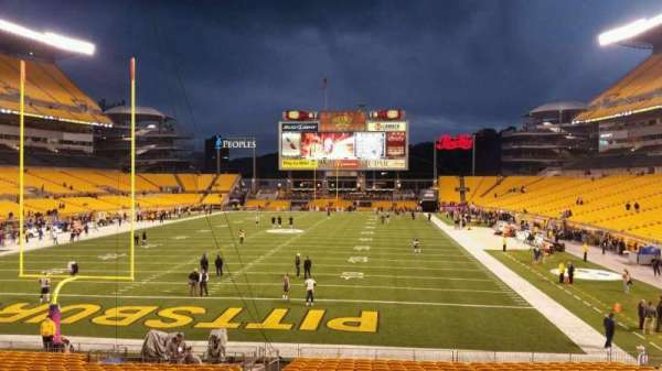 Heinz Field, section: 124, row: X, seat: 19