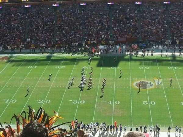 FedEx Field, section: 428, row: 20, seat: 14