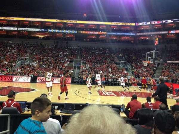 KFC Yum! Center, section: 115, row: E, seat: 16