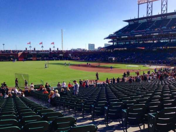 Oracle Park, section: 130, row: 30, seat: 3