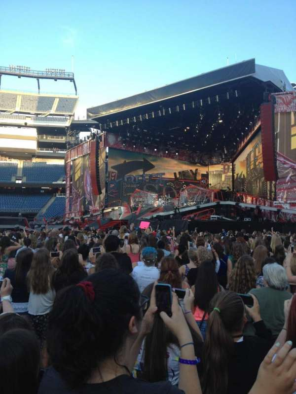 Gillette Stadium, section: A2, row: 28, seat: 9