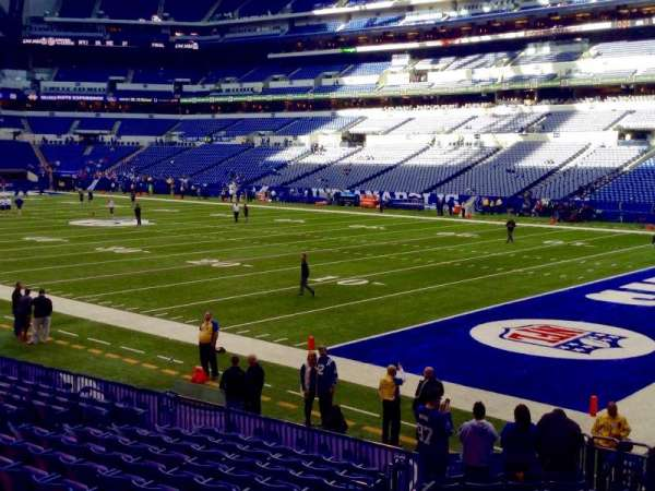Lucas Oil Stadium, section: 105, row: 16, seat: 21, 22, 23