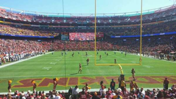 FedEx Field, section: 111, row: 14, seat: 21